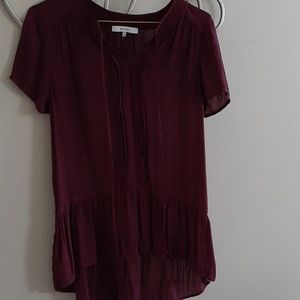 Ro&De burgundy blouse